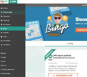 paf bingo sivusto
