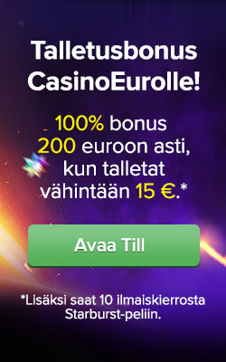 Talletusbonus CasinoEurolle!